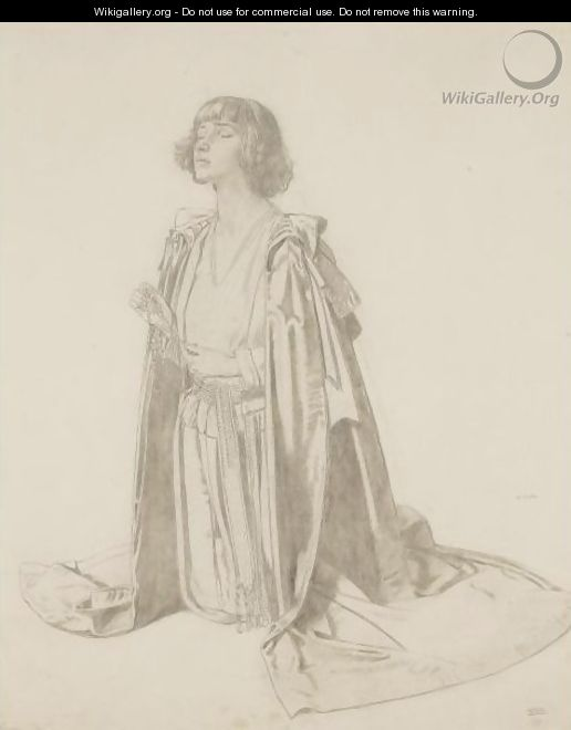 Kneeling Figure Of A Woman - Study For The Holy Well - Sir William Newenham Montague Orpen