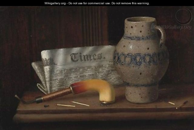 Table Top Still Life With London Times 2 - William Michael Harnett