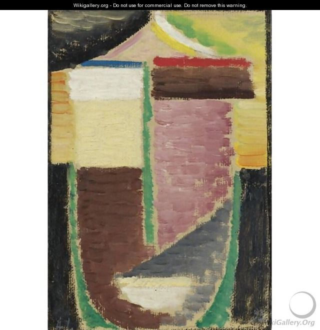 Abstrakter Kopf (Abstract Head) 3 - Alexei Jawlensky