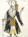 Costume Design For The Priest Soma From Le Dieu Bleu - Leon (Samoilovitch) Bakst
