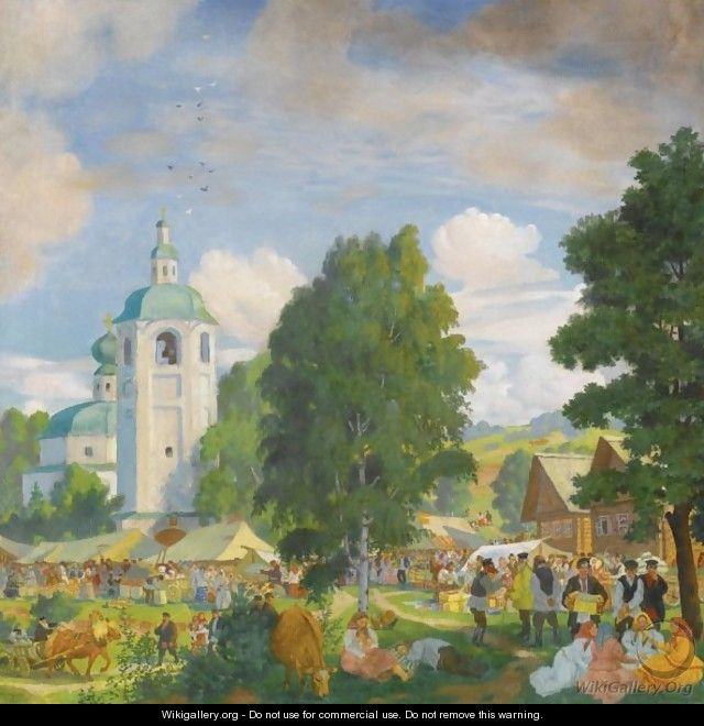 The Village Fair - Boris Kustodiev