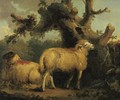 Two Sheep In A Landscape - George Morland