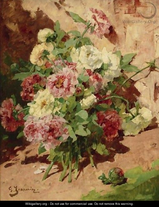Pink And White Peonies - Georges Jeannin