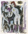 Two Standing Female Nudes - Albert Muller