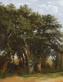 Groupe De Chenes Group Of Oak Trees - Alexandre Calame