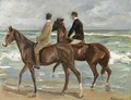 Two Riders On A Beach - Max Liebermann
