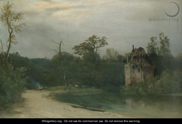 Castle In A Wooded Landscape - Karl Blechen