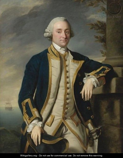 Portrait Of Admiral Sir Hugh Palliser, 1st Bart. (1722-1796) - Sir Nathaniel Dance-Holland
