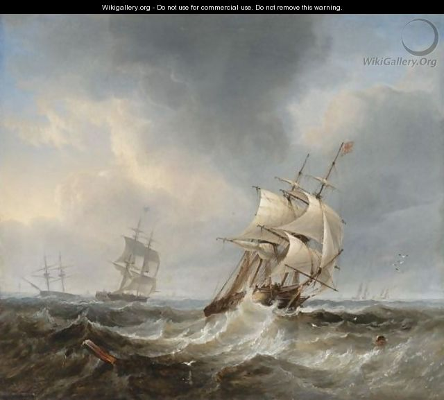 A Frigate Of The Royal Navy In Heavy Seas - John Wilson Carmichael