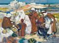 Market In Front Of The Admiralty Of Algiers - Leon Cauvy