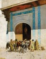In Front Of The Mosque - Alberto Pasini