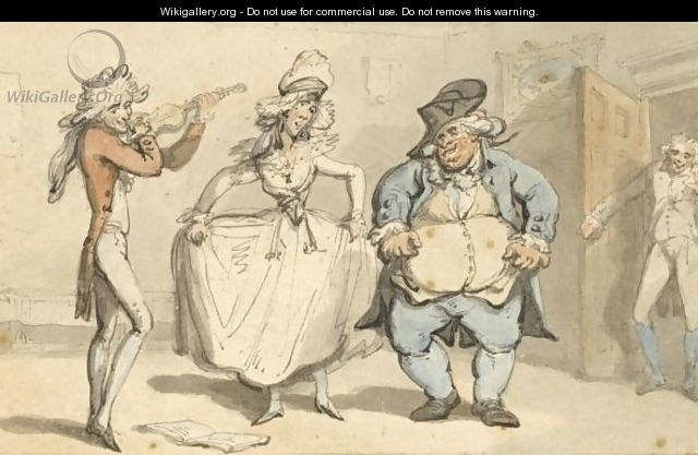 Dancing To A Fiddle - Thomas Rowlandson
