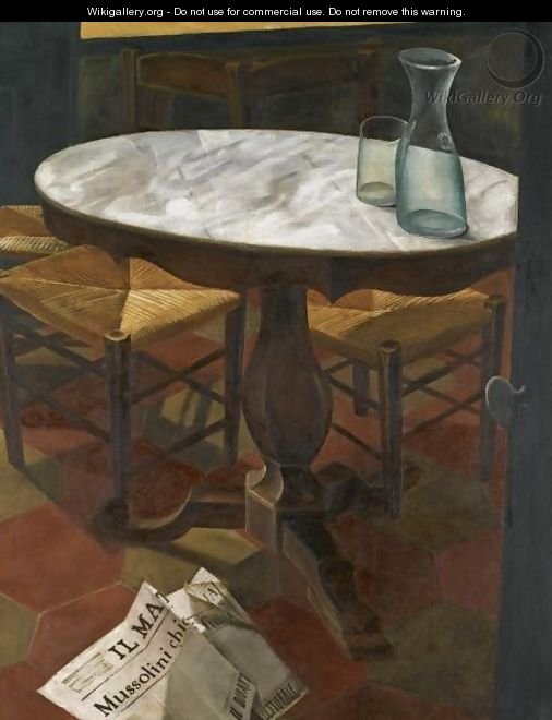 Still Life With Table - Alexander Evgenievich Yakovlev