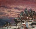 Village In Winter - Konstantin Alexeievitch Korovin