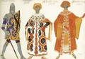 Costume Design For Three Characters From Act I Of Le Martyre De San Sebastien - Lev Samoilovich Bakst