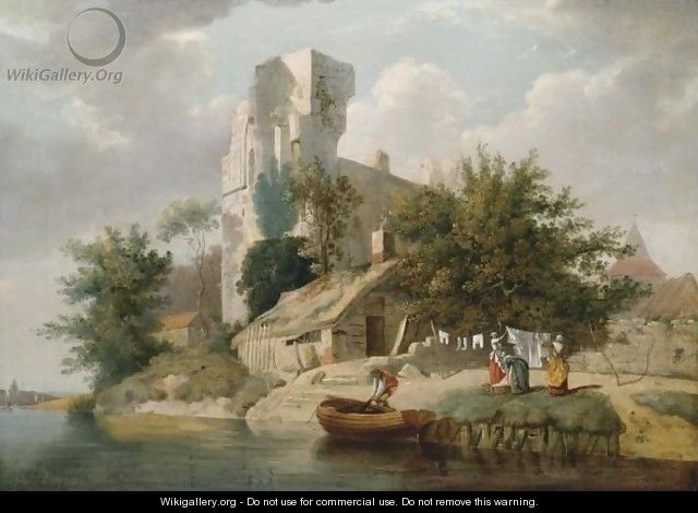 View On The Banks Of The Medway - Francis Wheatley