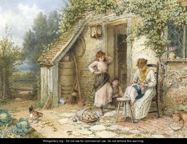 The Lace Maker - Myles Birket Foster