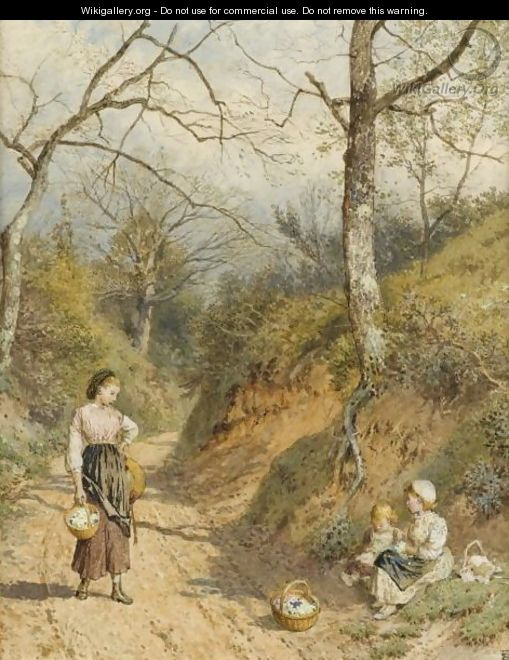 The Primrose Gatherers - Myles Birket Foster