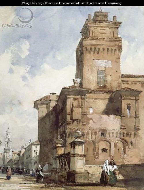 The Castello, Ferrara - Richard Parkes Bonington