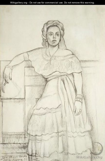 Portrait Of Nina Palou - Diego Rivera