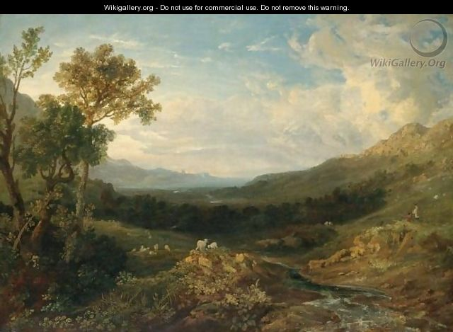 The Valley Of The Clyde - Anthony Vandyke Copley Fielding