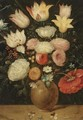 A Still Life Of Various Flowers In A Vase - (after) Jan The Elder Brueghel