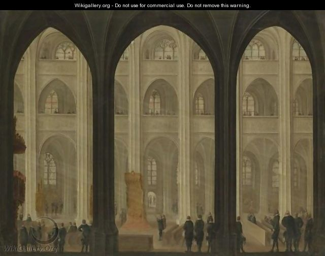 The Interior Of A Cathedral - Dutch School
