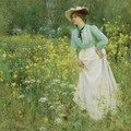 A Morning Walk - Arthur Hacker