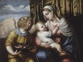 The Madonna And Child With An Angel - (after) Alessandro Bonvicino (Moretto Da Brescia)