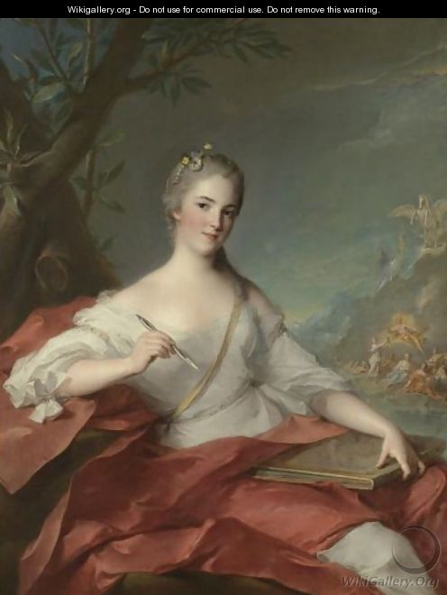 Portrait Of Marie-Genevieve Boudrey, Represented As A Muse - Jean-Marc Nattier