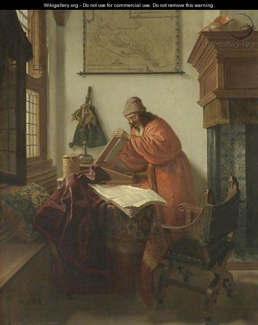 A Scholar In His Study - Cornelis De Man