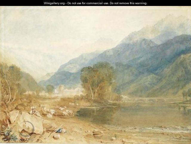 A View From The Castle Of St. Michael, Bonneville, Savoy, From The Banks Of The Arve River - Joseph Mallord William Turner