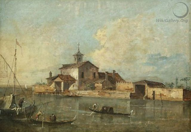 A View Of The Venetian Lagoon With The Island Of San Jacopo Di Paludo - Giacomo Guardi