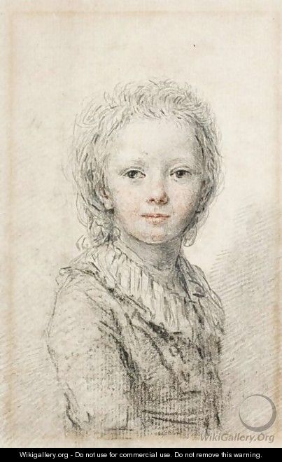 Portrait Of A Young Boy, Thought To Be The Dauphin, Later Louis XVII - (after) Augustin De Saint-Aubin