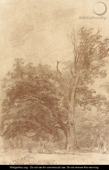 The Edge Of A Wood, With Children Playing And Other Figures - Jean-Honore Fragonard