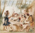 Merry Company Under An Arbour - Jacob Jordaens