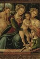 The Madonna And Child With Saint Catherine, Saint Sebastian And Mary Magdalene - Ferrarese School
