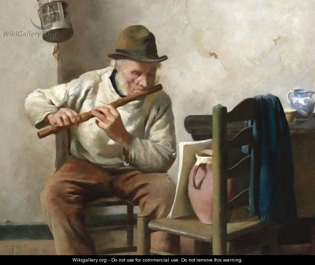 The Flute Player - Frederick James McNamara Evans