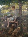 The Half Holiday, Alec Home From School - Elizabeth Stanhope Forbes