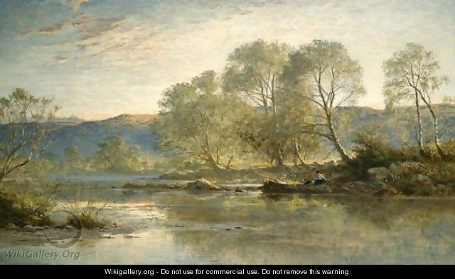 Sunny Evening, North Wales - Benjamin Williams Leader