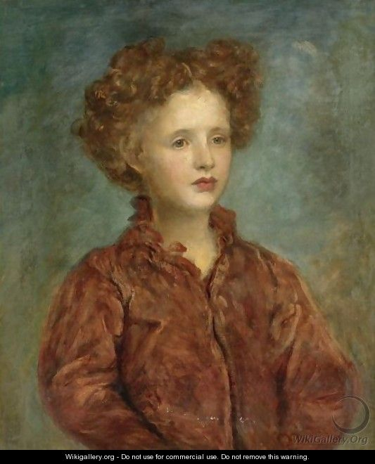 Portrait Of A Young Titled Girl - George Frederick Watts