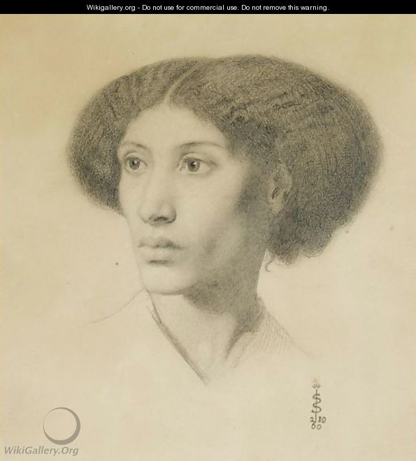 Portrait Of Fanny Eaton - Simeon Solomon