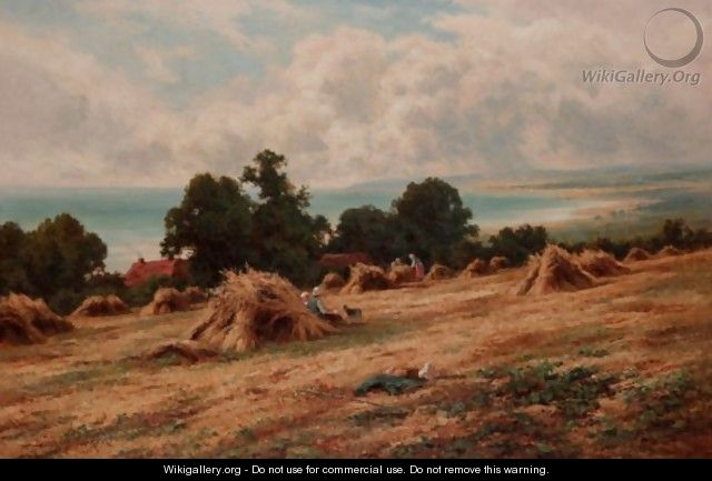 Harvesting On The Sussex Coast, Near Worthing - Henry Hillier Parker