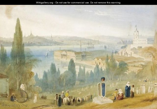 A View Of Constantinople The Graveyard - William Purser