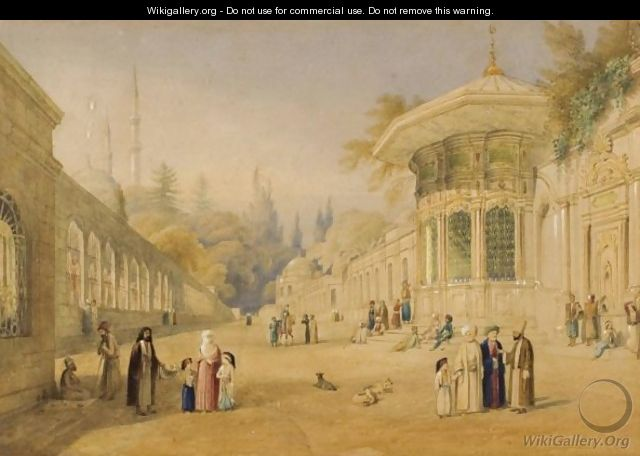 View Of Constantinople Milling In The Avenue - William Purser