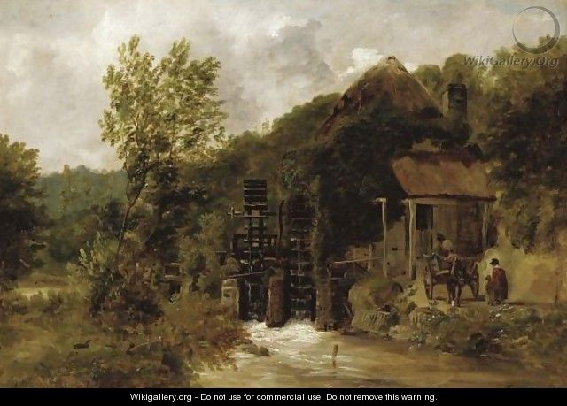 The Old Mill In Devon - Frederick Richard Lee