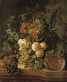 Still Life With Fruit And Flowers - (after) Jan Van Os