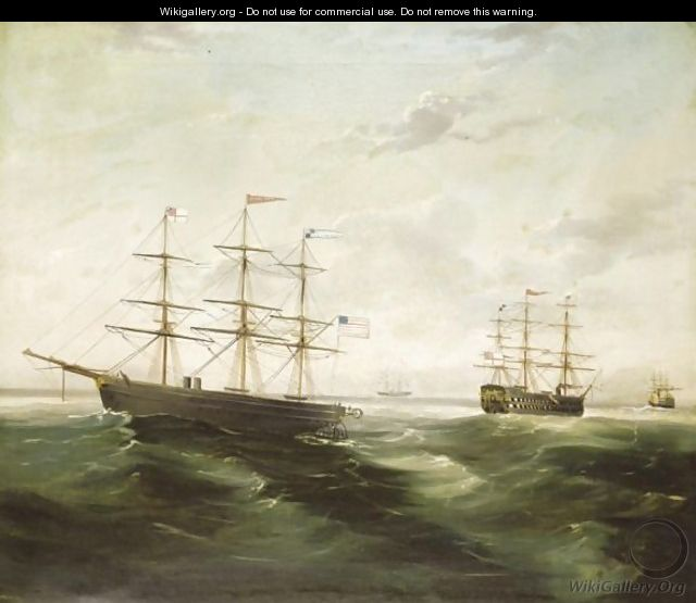 The Laying Of The First Transatlantic Cable - English School