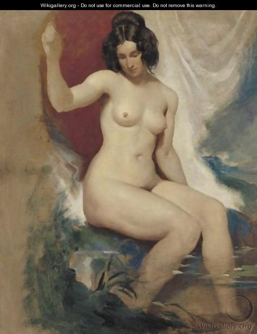 Seated Female Nude 2 - William Etty