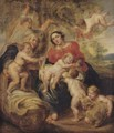 Holy Family With Saint Elizabeth And Saint John - (after) Sir Peter Paul Rubens